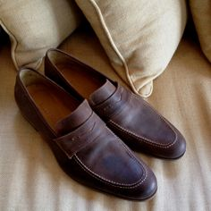 Billy Reid Washed-Leather Loafer
