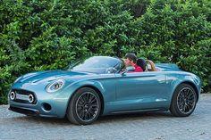 The Mini Superlegerra concept car examined by Autobild.