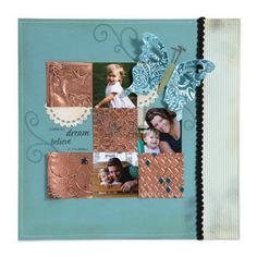 Embossed Metal Scrapbook Page...love the copper embossing