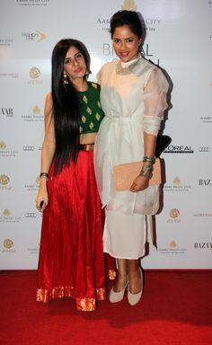 Sameera Reddy with designer, Nishka Lulla