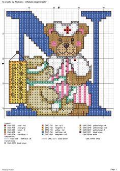 alfabeto degli orsetti : N