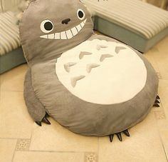 Oversized big cartoon Totoro sofa mattress mattress queen size plush toy plush toy doll crib