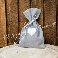 ΜΠΟΜΠΟΝΙΕΡΑ ΓΑΜΟΥ ΛΙΝΟ ΠΟΥΓΚΙ ΓΚΡΙ ΜΕ ΛΕΥΚΗ ΚΑΡΔΙΑ - ΚΩΔ:MPO-8264 Burlap, Reusable Tote Bags, Nice, Hessian Fabric, Canvas