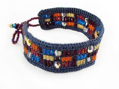 Contemporary Crochet and Bead Bracelet - *NEW*