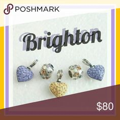 5 New Brighton Charm 3 hearts and 2 bejeweled 5 New Brighton Charm 3 hearts and 2 bejeweled Brighton  Jewelry