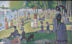 Original Georges Seurat painting processed by artificial intelligence. Psychedelic! Can I get it framed, please? #artificialintelligence #ai #art #artificial #neural #network #inceptionism (image source: http://googleresearch.blogspot.co.uk/2015/06/inceptionism-going-deeper-into-neural.html?m=1