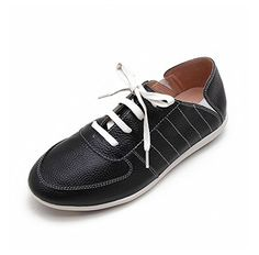 e3a4dff65d8665 Lane172 Women Women s Skateboarding Shoesing Shoes Cowhide Leather Flat Slip  Ons BD15020 US11 womenUS95 men black     Check out this great product.
