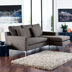 Oslo reversible corner sofa grey