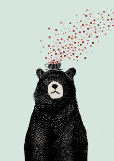 bear illustration - Google-søk not sure why i like this. but i do: