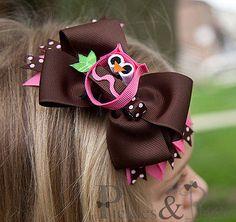 owl hairbow