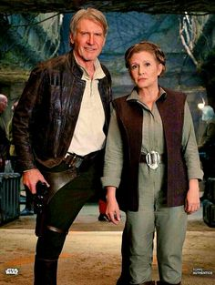 The Icons: (both the Actors AND the Characters): Harrison Ford/'Han Solo' and Carrie Fisher/'Princess (General) Leia'. Star Wars: 'The Force Awakens', Star Wars Film, Star Wars Rebels, Simbolos Star Wars, Star Wars Han Solo, Harrison Ford, Rougue One, Reylo, Star Wars Brasil, Disfraz Star Wars