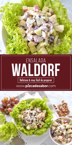 Ensalada Waldorf Christmas Side Dishes, Salad Recipes, Healthy Recipes, Deli Food, Going Vegetarian, Soup And Salad, Food And Drink, Tasty, Nutrition