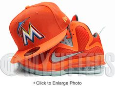 Miami Marlins Persimmon Sunburst Orange Glacial White Multi Colored New Era  Fitted Hat UP NOW ON 44008a145de