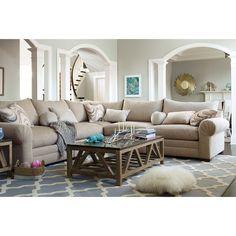 Living Room Furniture - Wilshire 5 Pc. Sectional (Alternate)