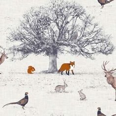Bring a touch of the outdoors into your home with this beautiful woodland animal…