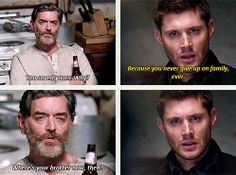 """[gifset] - """"You and I are very much alike."""" """"Right. Except I never killed my brother."""""""