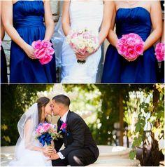 Royal Blue And Fuchsia Wedding | Found on weddingtonway.com