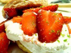 strawberry lime shortcakes