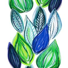 Design: FRUTTI (blue)  Designer: Louise Videlyck (Sweden)  Manufacturer: Kinnamark Composition: 100% Cotton Width: 140 cm  Repeat: 260 cm