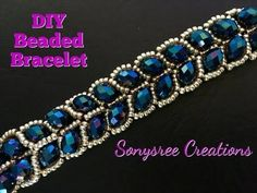 Beaded Leafy Bracelet DIY Easy Tutorial - YouTube