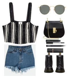 """""""coachella 2017"""" by minadinamike ❤ liked on Polyvore featuring Ray-Ban, Chloé, Dr. Martens, MAC Cosmetics, NARS Cosmetics and Estée Lauder"""