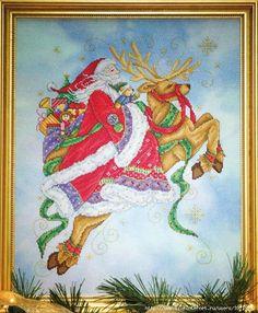 Santas Magical Journey - pretty and vibrant