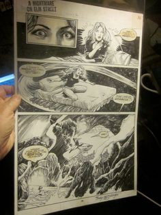 A Nightmare On Elm Street issue #2 Page of Art #36 Signed by Tony DeZuniga GREAT