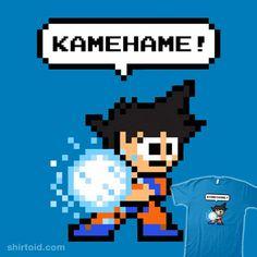 8-bit Kamehame   Shirtoid #8bit #anime #dragonball #dragonballz #kamehameha #mankeeboi #pixelart #tvshow #megaman