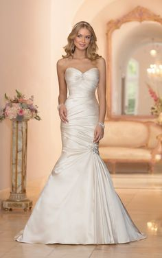 5980 Strapless Fit and Flare Wedding Dress by Stella York