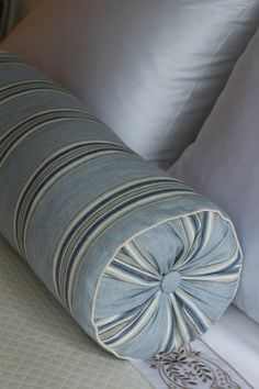 """neck roll"" pillow - Suzanne Tucker/Tucker and Marks"