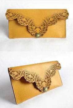 Vintage handmade leather Wallet by IOVintage on Etsy, $349.00