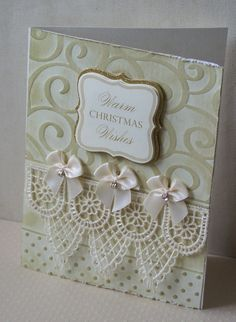 I actually think this would make a really nice wedding card, so that's where I'm pinning it! Warm Christmas Wishes - Scrapbook.com