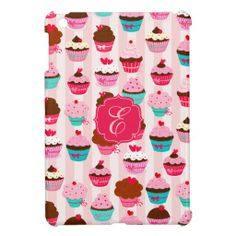 Modern Pink Cupcakes Girly Monogrammed iPad Mini Cover today price drop and special promotion. Get The best buyDeals          	Modern Pink Cupcakes Girly Monogrammed iPad Mini Cover today easy to Shops & Purchase Online - transferred directly secure and trusted checkout...