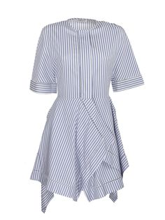 Whiteblue Handkerchief Dress from J. w. anderson in Cotton