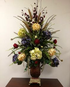 Spring Flower Arrangements, Artificial Floral Arrangements, Silk Flower Arrangements, Floral Centerpieces, Spring Flowers, Church Flowers, Bouquets, Flower Decorations, Church Decorations