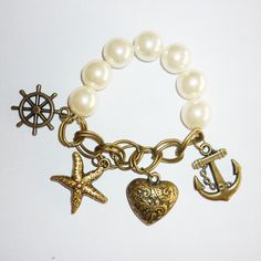 Starfish anchor heart bracelet [ob0051] - $4.99 : Fasion jewelry promotion store,www.cost21.com