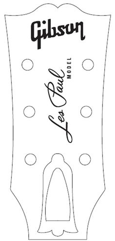Gibson les paul headstock template