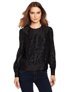 This pretty blouse can be worn to work or on the weekend,  the button detail at the neckline makes the piece even more special