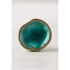 Anthropologie Ocean Crater Knob ($10) ❤ liked on Polyvore featuring home, home decor, decorative hardware, blue green, hardware knobs, ocean home decor, sea home decor and aqua home decor