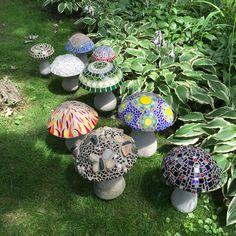 Concrete mosaic mushrooms                                                                                                                                                                                 More