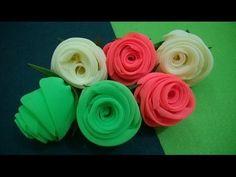 D.I.Y. Neon Chiffon Fabric Roses - Tutorial | MyInDulzens - YouTube