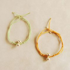 khaki and honey string bracelets Helena Rohner SS14 #helenarohner