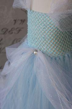 Cinderella Disney Princess Blue and White Tulle Tutu  Halloween Costume Dress Skirt Girls Baby Dress-Up Custom Crochet. $59.00, via Etsy.