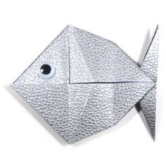 Like this one the best so far! Origami fish with folding instructions