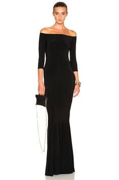 Shop for Off Shoulder Fishtail Dress by Norma Kamali from 2 retailers at ShopStyle. Goth Wedding Dresses, Cheap Prom Dresses, Maxi Dresses, Bridesmaid Dresses, Womens Cocktail Dresses, Black Cocktail Dress, Melody Fashion, Fishtail Dress, Simple Prom Dress
