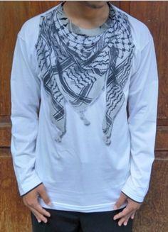 Kaos 3D Putih Lengan Panjang