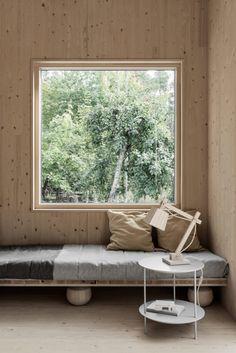 Project: Gotland Summer House Owner: Gabriella Gustafson Interior Stylist: Annaleena Leino Karlsson Furniture by TAF Design Studio Home Interior Design, Interior Architecture, Interior And Exterior, Cabin Interiors, Wood Interiors, Plywood Interior, House In The Woods, Rustic Design, Scandinavian Design