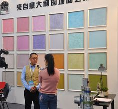 Moment of a fair in Shanghai with Ferrara Design China and our chinese partner