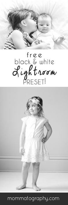 Free beautiful black and white preset for lightroom www mommatography com