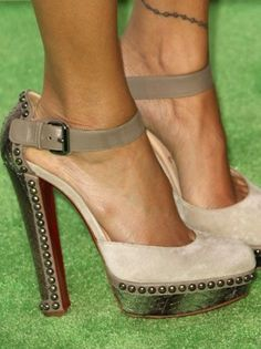 Christian Louboutin. Typically I don't like the squarish heels, but these are awesome!!